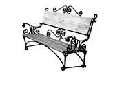 Кованые лавочки (скамейки)