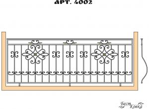 Кованые балконные ограждения - 4002