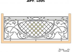Кованые балконные ограждения -4005