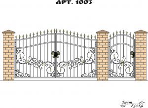 Кованые ворота - 1003