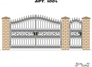 Кованые ворота - 1004