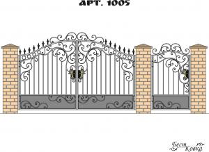 Кованые ворота - 1005