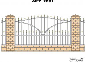 Кованые заборы - 2001