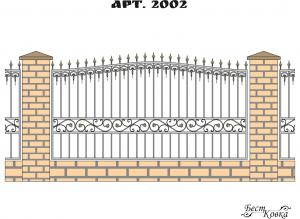 Кованые заборы - 2002