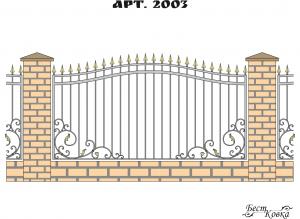 Кованые заборы - 2003