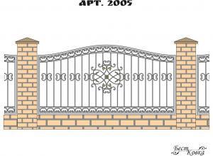 Кованые заборы - 2005