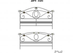 Кованые кровати - 1301