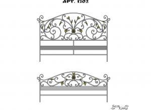 Кованые кровати - 1302