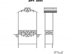 Кованые мангалы -8001
