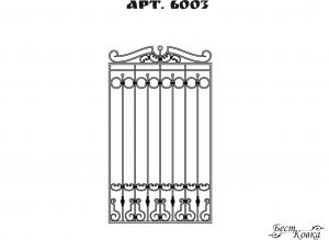 Кованые решетки - 6003
