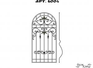 Кованые решетки - 6004