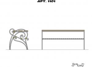Кованые лавочки - 1101