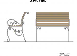 Кованые лавочки - 1104