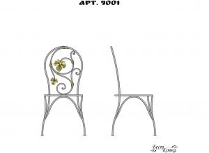 Кованые стулья - 9001