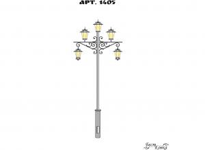 Кованые фонари - 1405