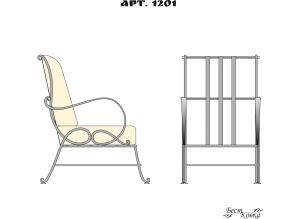 Кованые кресла - 1201