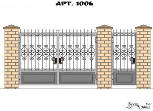 Кованые ворота - 1006