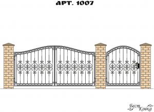 Кованые ворота - 1007