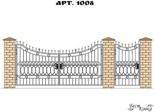 Кованые ворота - 1008