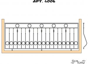 Кованые балконные ограждения -4006