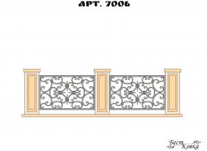 Кованые ограды - 7006