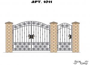 Кованые ворота - 1011
