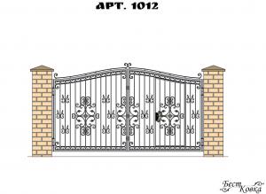 Кованые ворота - 1012