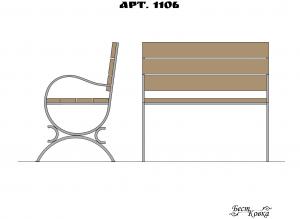 Кованые лавочки - 1106