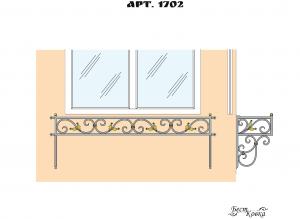 Кованые цветочницы -1702
