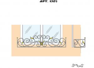Кованые цветочницы -1703