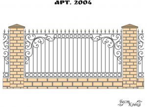 Кованые заборы - 2004